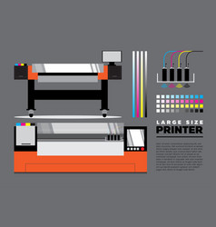 Large size printer vector