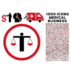 Lawyer Rounded Icon With Medical Bonus vector image