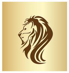lion head portrait icon vector image