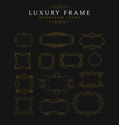 Luxury frames calligraphy templates vector