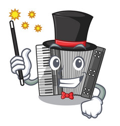 Magician accordion isolated with in the character vector
