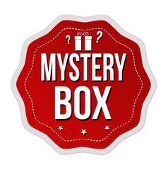 Mystery box label or sticker vector