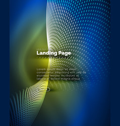Neon glowing background for landing page vector