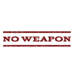 No Weapon Watermark Stamp vector image