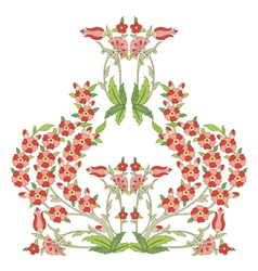 Ottoman art flowers sixteen vector