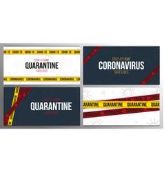 pandemic stop novel coronavirus outbreak covid-19 vector image