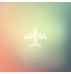 Plane icon on blurred background vector