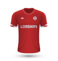Realistic soccer shirt antwerp 2022 jersey vector
