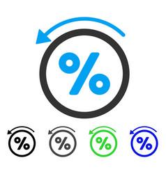 Rebate percent flat icon vector