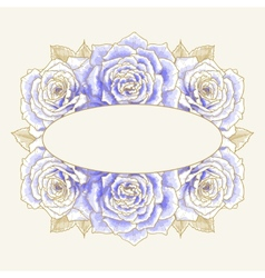 Romantic background with blue roses vector image