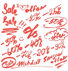 sale handwritten 380 vector image