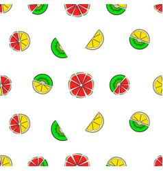 Seamless pattern bright juicy fruit vector