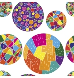 Seamless pattern with colorful balls vector