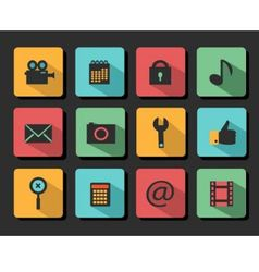 Set icons flat design vector image