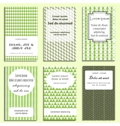 Set of greeting cards design vector