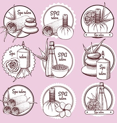 Sketch spa logos vector image