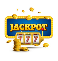 Slot machine lucky sevens jackpot concept 777 vector