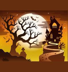Spooky tree topic image 1 vector