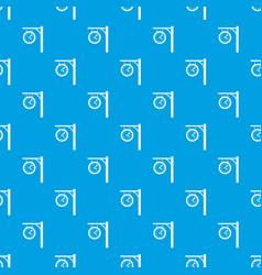 Station clock pattern seamless blue vector