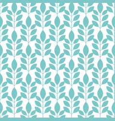 symmetrical seamless floral pattern with blue vector image vector image
