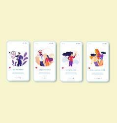 target family catch idea communication set vector image
