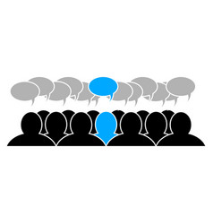 Team leader icon social business group flat vector