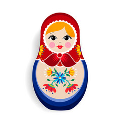 Traditional matrioska or russian doll isolated vector