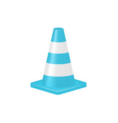 Traffic cone in turquoise design vector