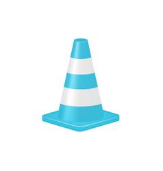 traffic cone in turquoise design vector image