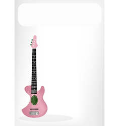 Two Beautiful Ukulele Guitar with A White Banner vector image