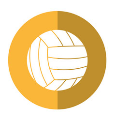 Volleyball ball sport shadow vector