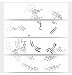 Web banners set of header layout templates circle vector