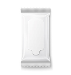 White wet wipes package with flap vector