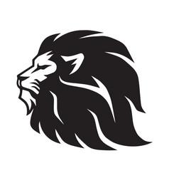 Wild lion icon logo mascot template vector