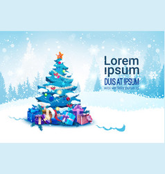 winter holidays banner with copy space christmas vector image