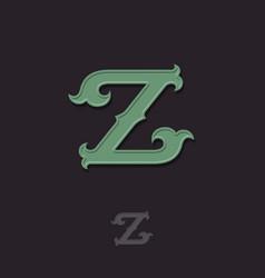 Z monogram vector
