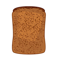 closeup of slice of whole wheat bread isolated vector image