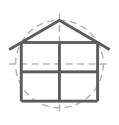 floor plan isolated icon design vector image