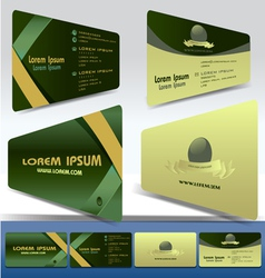 two business cards vector image vector image