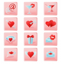 valentines icons2 vector image vector image
