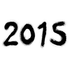 2015 graffiti vector image