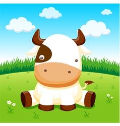 Cow in farm vector image vector image