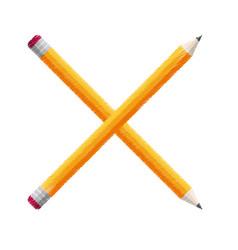 crossed pencils school icon vector image