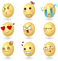 Eggs Emotions Set1 vector image