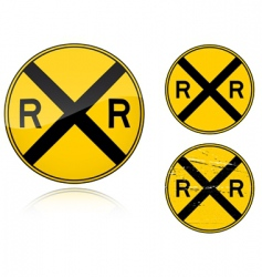 level crossing sign vector image vector image