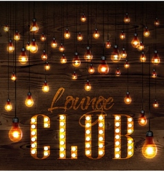 Lounge club glowing lights vector image vector image
