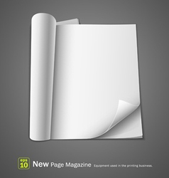 open new page magazine vector image vector image