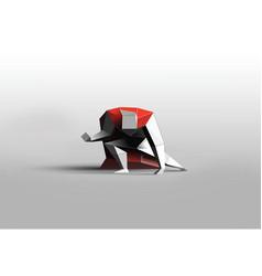 polygonal of superhero business power icon vector image