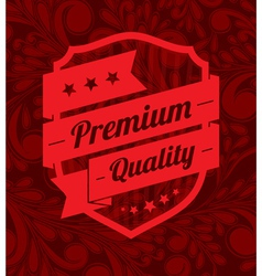 Premium label design over floral background vector