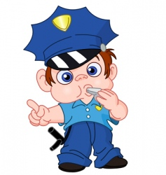 young policeman vector image